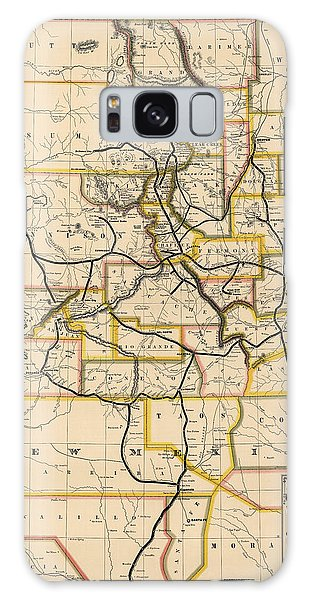Mexican Galaxy Case - Antique Railroad Map Of Colorado And New Mexico By S. W. Eccles - 1881 by Blue Monocle