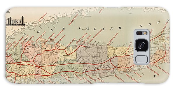 Trains Galaxy Case - Antique Railroad Map Of Long Island By The American Bank Note Company - Circa 1895 by Blue Monocle