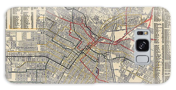 Trains Galaxy Case - Antique Railroad Map Of Los Angeles - 1906 by Blue Monocle