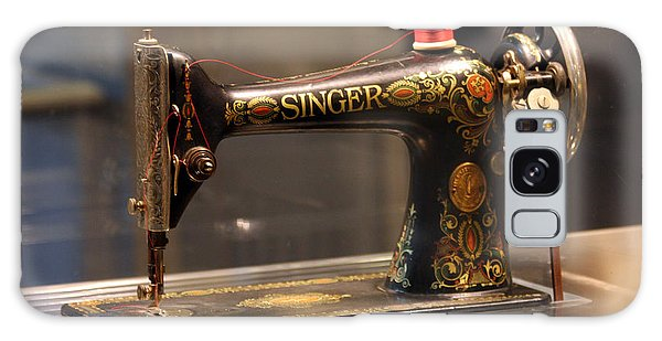Antique Sewing Machine  Galaxy Case by Vadim Levin