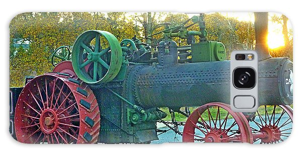 Antique Steam Tractor Galaxy Case by Pete Trenholm