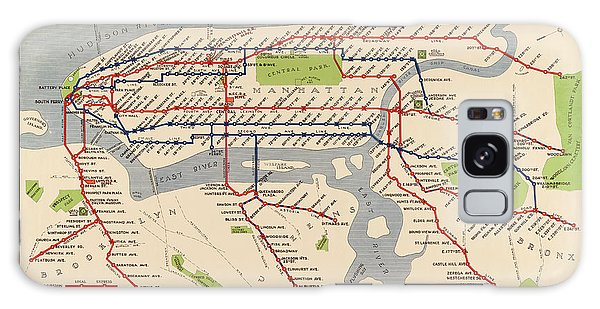 Antique Subway Map Of New York City - 1924 Galaxy Case by Blue Monocle