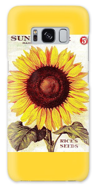 Antique Sunflower Seeds Pack Galaxy Case