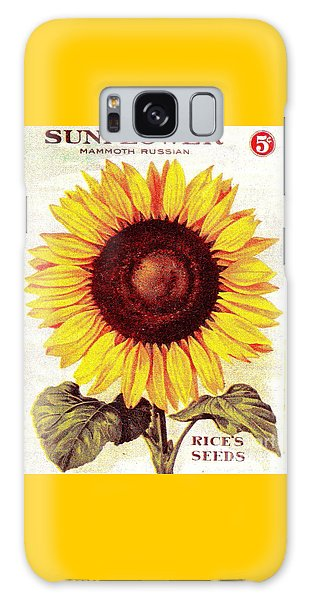 Antique Sunflower Seeds Pack Galaxy Case