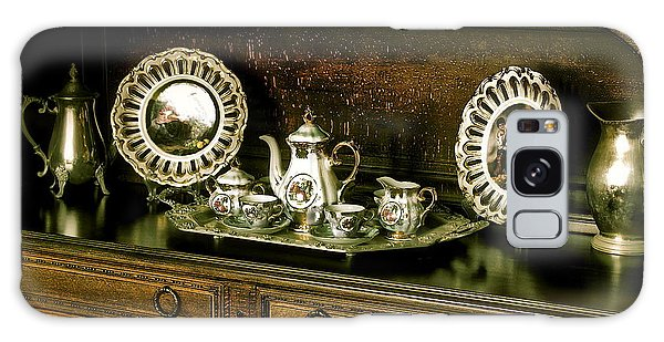 Antique Tea Set Galaxy Case by The Art of Alice Terrill