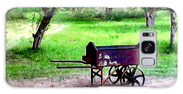 Antique Wheelbarrow Galaxy Case by Sadie Reneau