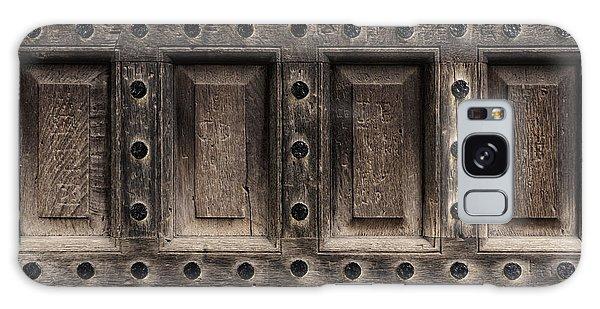 Antique Wooden Door Closeup Galaxy Case