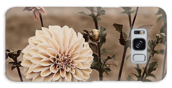 Antiqued Dahlias Galaxy Case by Jeanette C Landstrom