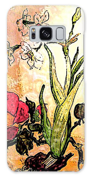 Antiqued Floral Watercolor Painting Galaxy Case