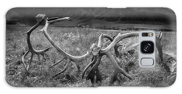 Antlers In Black And White Galaxy Case by Andrew Matwijec