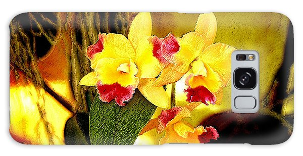 Aos Yellow Orchid 1 Galaxy Case