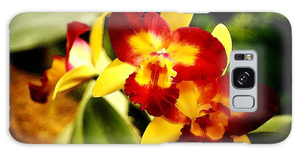 Aos Yellow Orchid 2 Galaxy Case