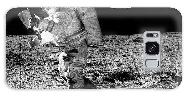 Astronaut Galaxy Case - Apollo 14 Astronaut On The Moon by Nasa/detlev Van Ravenswaay