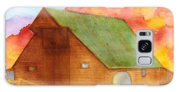 Appalachian Barn In Autumn Galaxy Case by Ann Michelle Swadener