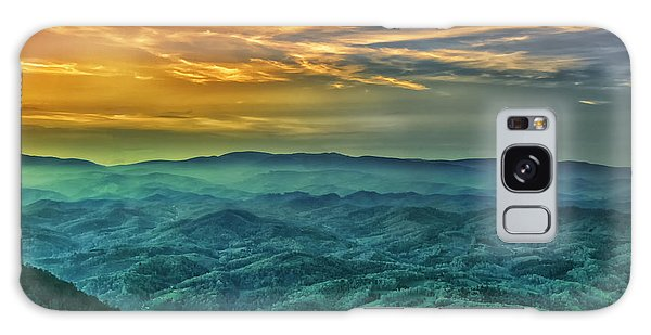 Appalachian Mountain Sunset Galaxy Case