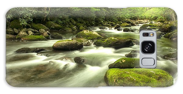Appalachian Spring Stream Galaxy Case by Phyllis Peterson