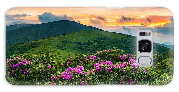 North Carolina Appalachian Trail Roan Mountain Highlands Galaxy Case