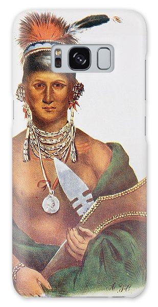 Indian Head Galaxy Case - Appanoose, A Sauk Chief, 1837, Illustration From The Indian Tribes Of North America, Vol.2 by George Cooke