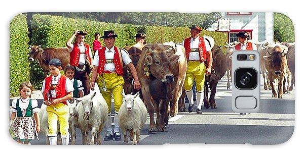 Appenzell Parade Of Cows Galaxy Case