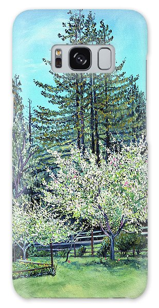 Apple Blossoms And Redwoods Galaxy Case