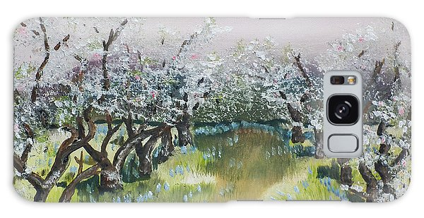 Apple Blossoms In Ellijay -apple Trees - Blooming Galaxy Case