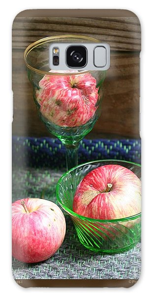 Apples And Green Glass-i Galaxy Case by Patricia Overmoyer