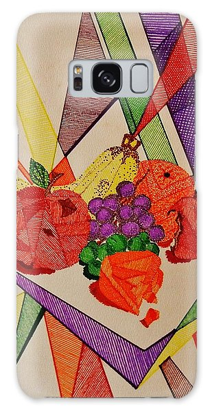 Apples And Oranges Galaxy Case by Celeste Manning