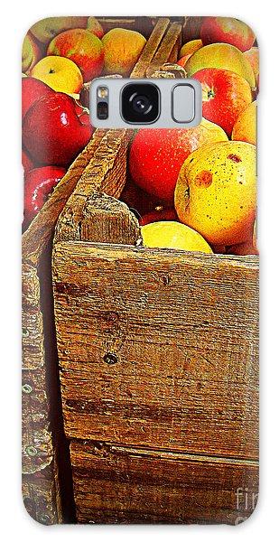Apples In Old Bin Galaxy Case by Miriam Danar
