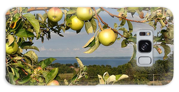 Apples Over Grand Traverse Bay Galaxy Case