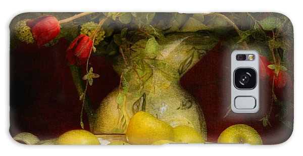 Apples Pears And Tulips Galaxy Case by Jeff Burgess