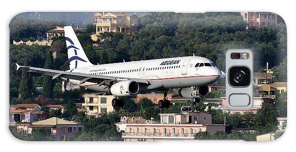 Approaching Corfu Airport Galaxy Case