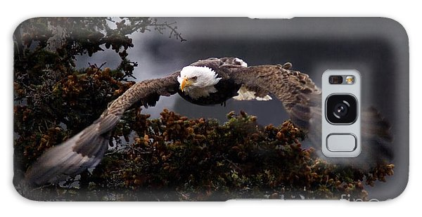 Approaching Eagle-signed- Galaxy Case by J L Woody Wooden