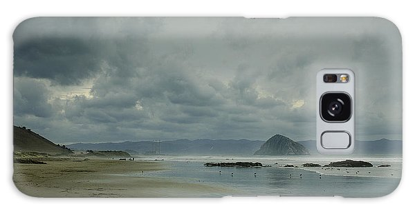 Approaching Storm - Morro Rock Galaxy Case by Terry Garvin