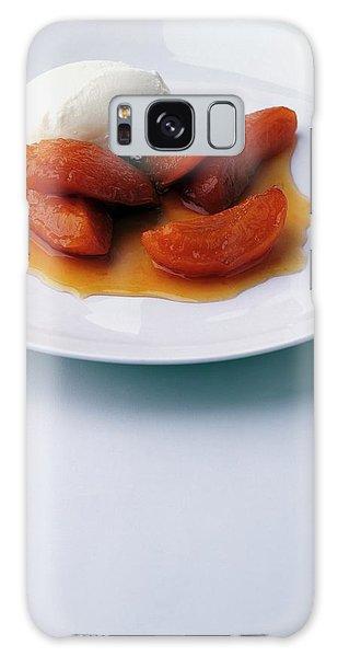 Apricots Served With Vanilla Ice Cream Galaxy Case