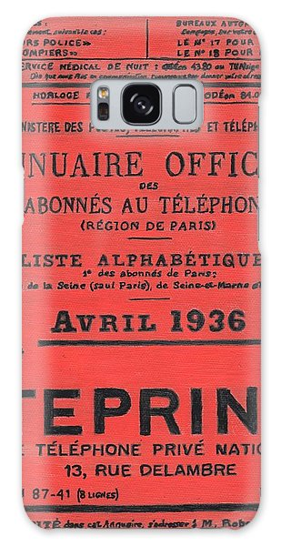 April In Paris 1936 Galaxy Case