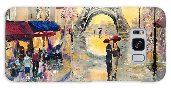 April In Paris Galaxy Case by Alan Lakin