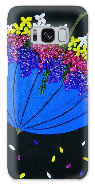 April Showers... Galaxy Case by Celeste Manning