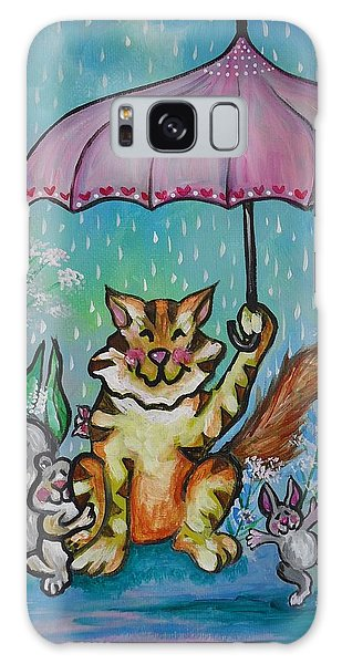 April Showers Galaxy Case by Leslie Manley