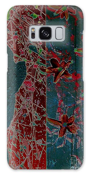 April Showers/ May Flowers Galaxy Case by Jacqueline McReynolds