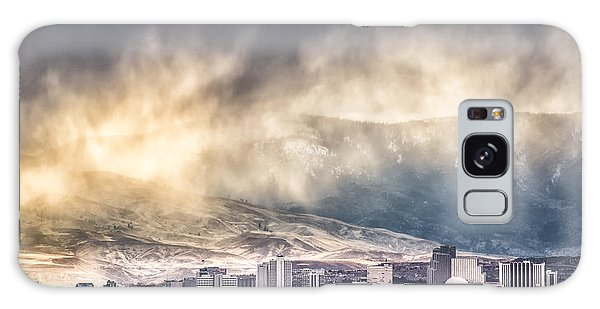 April Showers Over Reno Galaxy Case by Janis Knight