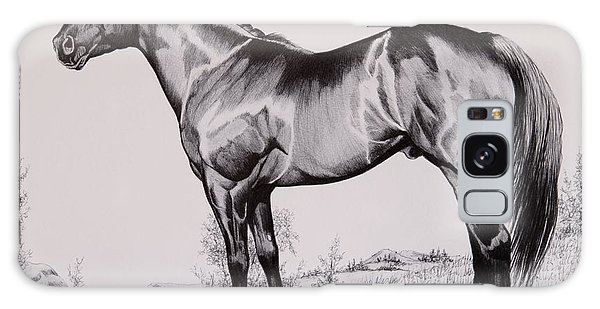 Aqha Stallion Driftwood Galaxy Case by Cheryl Poland