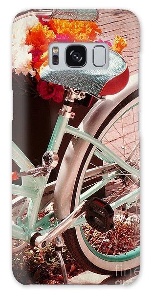 Aqua Bicycle Galaxy Case by Valerie Reeves
