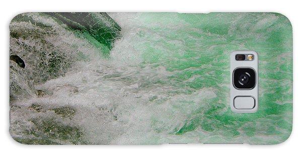 Aqua Falls Galaxy Case by Rich Collins
