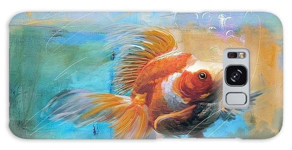 Goldfish Galaxy Case - Aqua Gold by Catf