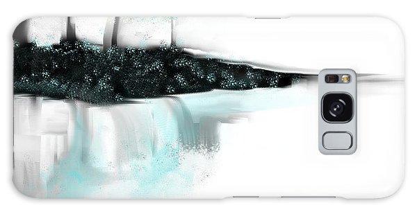 Aqua Landscape Galaxy Case by Jessica Wright