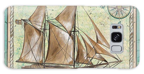 Tall Galaxy Case - Aqua Maritime 2 by Debbie DeWitt