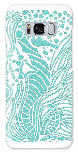 Aqua Seahorse Galaxy Case by Stephanie Troxell