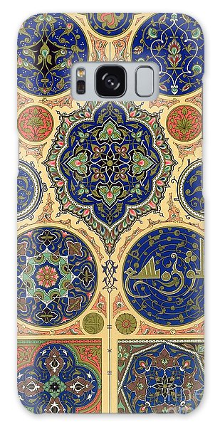 Decorative Galaxy Case - Arabian Decoration Plate Xxvii From Polychrome Ornament by Albert Charles August Racinet