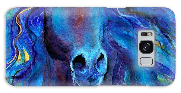 Watercolor Pet Portraits Galaxy Case - Arabian Horse #3  by Svetlana Novikova