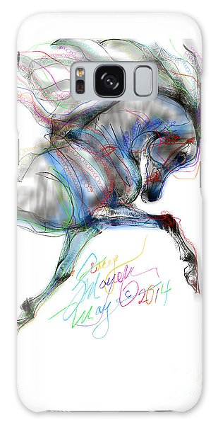Arabian Horse Trotting In Air Galaxy Case by Stacey Mayer